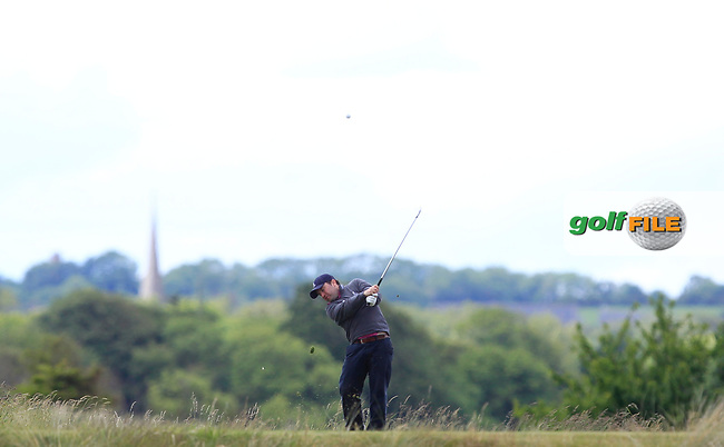 Paul O'Hanlon (Carton House) on the 15th tee during Round 3 of the East of Ireland Amateur Open Championship at Co. Louth Golf Club in Baltray on Sunday 4th June 2017.<br /> Photo: Golffile / Thos Caffrey.<br /> <br /> All photo usage must carry mandatory copyright credit     (&copy; Golffile | Thos Caffrey)