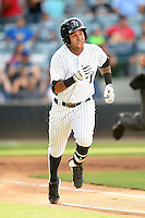 Tampa Yankees shortstop Cito Culver (2) during a game against the Dunedin Blue Jays on June 28, 2014 at George M. Steinbrenner Field in Tampa, Florida.  Tampa defeated Dunedin 5-2.  (Mike Janes/Four Seam Images)