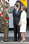 Royals of Spain Juan Carlos I and Sofia of Spain and the President of the Goverment of Spain attend the National Day Military Parad.October 12,2012.(ALTERPHOTOS/Acero)