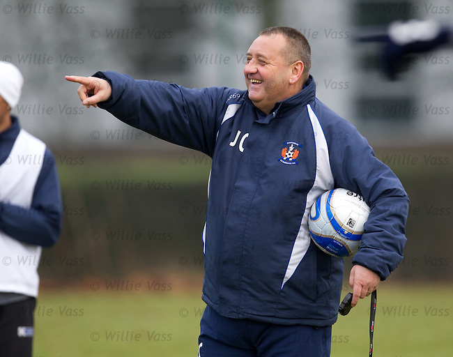 Jimmy Calderwood laughing