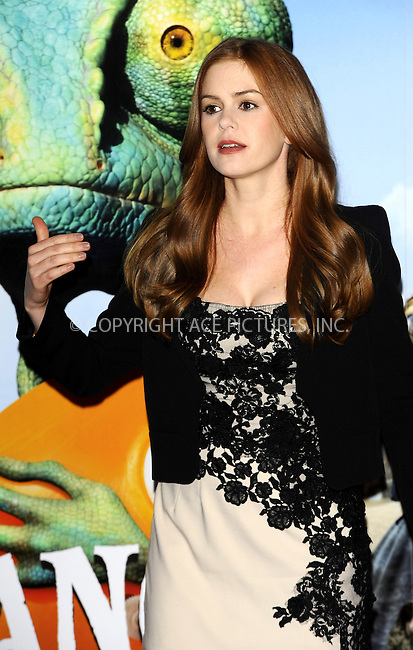 WWW.ACEPIXS.COM . . . . .  ..... . . . . US SALES ONLY . . . . .....February 22 2011, London....Actress Isla Fisher at a photocall for 'Rango' at Claridges on February 22 2011 in London....Please byline: FAMOUS-ACE PICTURES... . . . .  ....Ace Pictures, Inc:  ..Tel: (212) 243-8787..e-mail: info@acepixs.com..web: http://www.acepixs.com