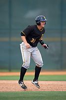 Pittsburgh Pirates John Bormann (30) during a minor league Spring Training game against the Toronto Blue Jays on March 24, 2016 at Pirate City in Bradenton, Florida.  (Mike Janes/Four Seam Images)