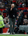 Josep Guardiola manager of Manchester City ponders during the Premier League match at Old Trafford, Manchester. Picture date: 8th March 2020. Picture credit should read: Darren Staples/Sportimage