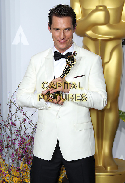 02 March 2014 - Hollywood, California - Matthew McConaughey. 86th Annual Academy Awards held at the Dolby Theatre at Hollywood &amp; Highland Center. <br /> <br /> CAP/ADM/RE<br /> &copy;Russ Elliot/AdMedia/Capital Pictures