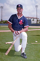 Boston Red Sox Tim Naehring during spring training circa 1991 at Chain of Lakes Park in Winter Haven, Florida.  (MJA/Four Seam Images)