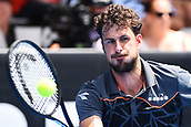 11th January 2018, ASB Tennis Centre, Auckland, New Zealand; ASB Classic, ATP Mens Tennis;  Robin Haase (NED) during the ASB Classic ATP Men's Tournament Day 4 Quarter Finals