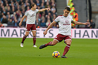Ashley Westwood during West Ham United vs Burnley, Premier League Football at The London Stadium on 10th March 2018