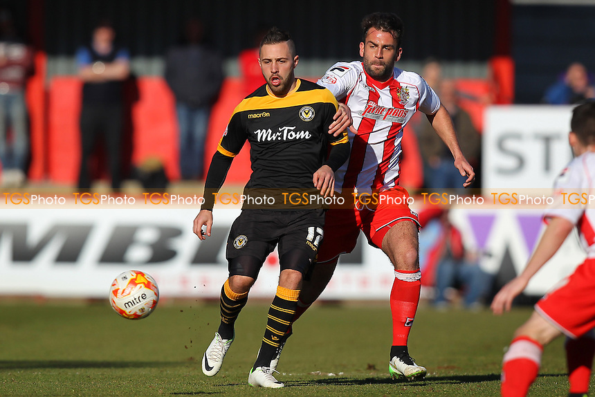 Simon Walton in action for Stevenage - Stevenage vs Newport County - Sky Bet League Two Football at the Lamex Stadium, Broadhall Way, Stevenage - 07/03/15 - MANDATORY CREDIT: Gavin Ellis/TGSPHOTO - Self billing applies where appropriate - contact@tgsphoto.co.uk - NO UNPAID USE