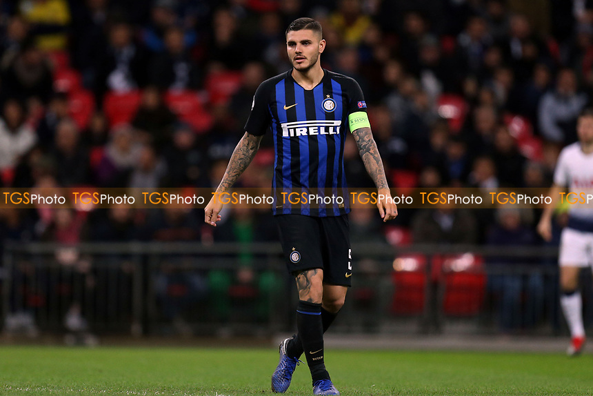 Mauro Icardi of Internazionale during Tottenham Hotspur vs Inter Milan, UEFA Champions League Football at Wembley Stadium on 28th November 2018