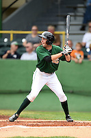 Clinton LumberKings outfielder Aaron Barbosa (13) at bat during a game against the Beloit Snappers on August 17, 2014 at Ashford University Field in Clinton, Iowa.  Clinton defeated Beloit 4-3.  (Mike Janes/Four Seam Images)