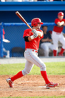 August 2, 2009:  Designated Hitter Ryan Gugel (4) of the Williamsport Crosscutters at bat during a game at Dwyer Stadium in Batavia, NY.  Williamsport is the NY-Penn League Short-Season Class-A affiliate of the Philadelphia Phillies.  Photo By Mike Janes/Four Seam Images