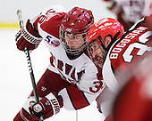 Pier-Olivier Michaud (Harvard - 39), Aaron Bogosian (St. Lawrence - 32) - The Harvard University Crimson defeated the St. Lawrence University Saints 4-3 on senior night Saturday, February 26, 2011, at Bright Hockey Center in Cambridge, Massachusetts.