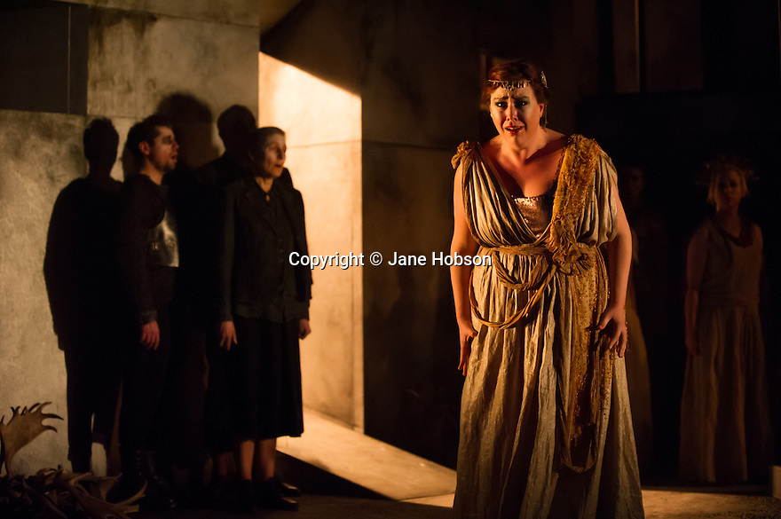 London, UK. 11.02.2014. English Touring Opera presents KING PRIAM in the Linbury Studio at the Royal Opera House. Picture shows:  Camilla Roberts (Andromache). Photograph © Jane Hobson.