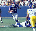 New York Giants Rodney Hampton(27) in action during a game against the Los Angeles Rams at Anaheim Stadium in Anaheim, California on October 16, 1994. The Rams beat the Giants 17-10. Rodney Hampton played for 8 years all with the Giants and was a 2-time Pro Bowler.David Durochik/SportPics