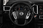 Car pictures of steering wheel view of a 2017 Nissan Titan S-Crew 4 Door Pickup Steering Wheel
