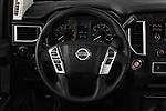 Car pictures of steering wheel view of a 2017 Nissan Titan S-Crew 4 Door Pickup Steering Wheel