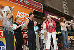 "Blithe Spirit's cast - Christine Ebersole (OLTL), Jayne Atkinson, Rupert Everett, Angela Lansbury and Mary Tyler Moore and Bernadette Peters at Broadway Barks 11 - a ""Pawpular"" star-studded dog and cat adopt-a-thon on July 11, 2009 in Shubert Alley, New York City, NY. (Photo by Sue Coflin/Max Photos)"