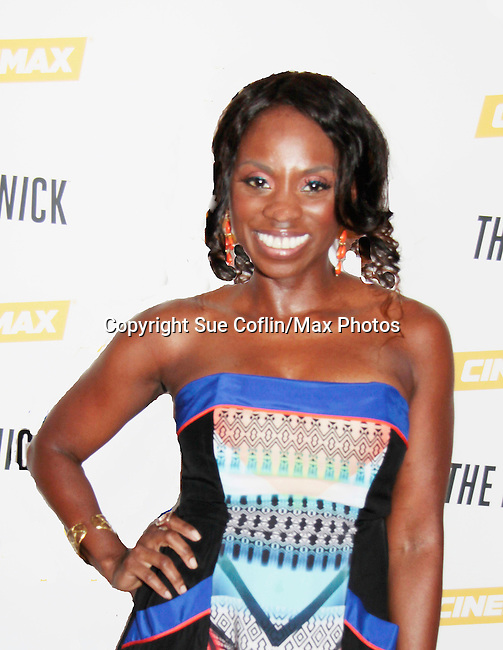 Delaina Dixon (The Gossip Table and Diva Gals Daily) at The Knick - on Cinemax - premiering Aug 8, 2014 - starring Andre Holland, Leon Addison Brown, David Fierro and more on July 23, 2014 at NY Academy of Medicine , New York City, New York.  (Photo by Sue Coflin/Max Photos)