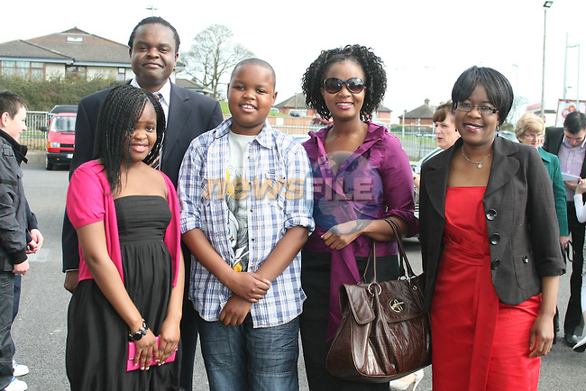 Simba Wekare and family at the St Joseph's Confirmation...Photo NEWSFILE/Jenny Matthews.(Photo credit should read Jenny Matthews/NEWSFILE)....This Picture has been sent you under the condtions enclosed by:.Newsfile Ltd..The Studio,.Millmount Abbey,.Drogheda,.Co Meath..Ireland..Tel: +353(0)41-9871240.Fax: +353(0)41-9871260.GSM: +353(0)86-2500958.email: pictures@newsfile.ie.www.newsfile.ie.FTP: 193.120.102.198.