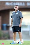 13 September 2013: UNC assistant coach Jeff Negalha. The University of North Carolina Tar Heels hosted the University of Maryland Terrapins at Fetzer Field in Chapel Hill, NC in a 2013 NCAA Division I Men's Soccer match. The game ended in a 2-2 tie after two overtimes