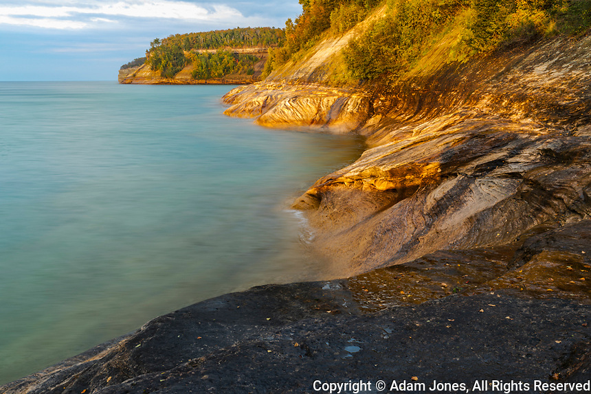 Rugged shoreline, Lake Superior, Pictured Rocks National Lakeshore, Upper Peninsula, Michigan.
