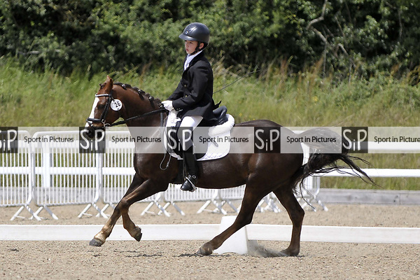 Class 5. Novice 27. Unaffiliated dressage. Brook Farm training centre. Essex. 24/06/2017. MANDATORY Credit Garry Bowden/Sportinpictures - NO UNAUTHORISED USE - 07837 394578