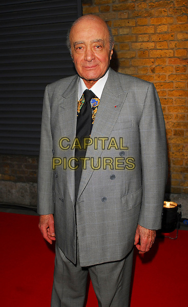 MOHAMMED AL FAYED.OK! Magazine - private 10th anniversary party, Old Billingsgate, London, UK..May 10th, 2006.Ref: CAN.half length grey gray suit jacket.www.capitalpictures.com.sales@capitalpictures.com.©Capital Pictures