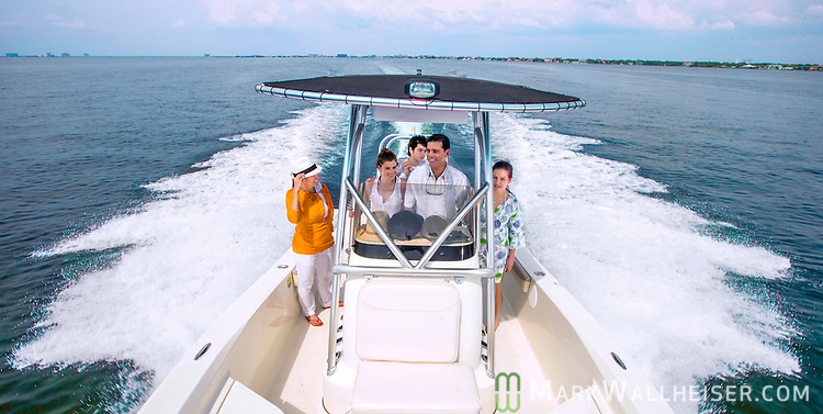 Florida attorney Bill Schifinio and his family boat in Tampa Bay Florida  March 25, 2016.