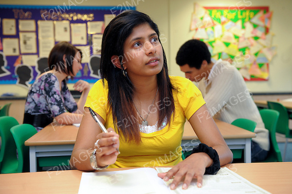 A female student pictured in a classroom...Photo by Alan Edwards©