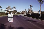 Entrance to Desert Braemar before gate.