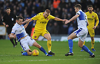 Fleetwood Town's Paddy Madden is fouled by Bristol Rovers' Ollie Clarke<br /> <br /> Photographer Kevin Barnes/CameraSport<br /> <br /> The EFL Sky Bet League One - Bristol Rovers v Fleetwood Town - Saturday 22nd December 2018 - Memorial Stadium - Bristol<br /> <br /> World Copyright &copy; 2018 CameraSport. All rights reserved. 43 Linden Ave. Countesthorpe. Leicester. England. LE8 5PG - Tel: +44 (0) 116 277 4147 - admin@camerasport.com - www.camerasport.com