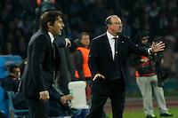 durante l'incontro di calcio di Serie A  Napoli - Juventus allo  Stadio San Paolo  di Napoli , 30 Marzo 2014<br /> Foto Ciro De Luca