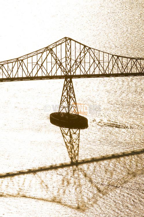 Aerial View of the Astoria-Megler Bridge, Astoria, Oregon