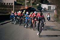 Tiesj Benoot (BEL/Lotto-Soudal) upping the tempo<br /> <br /> 70th Kuurne-Brussel-Kuurne 2018<br /> Kuurne &rsaquo; Kuurne: 200km (BELGIUM)