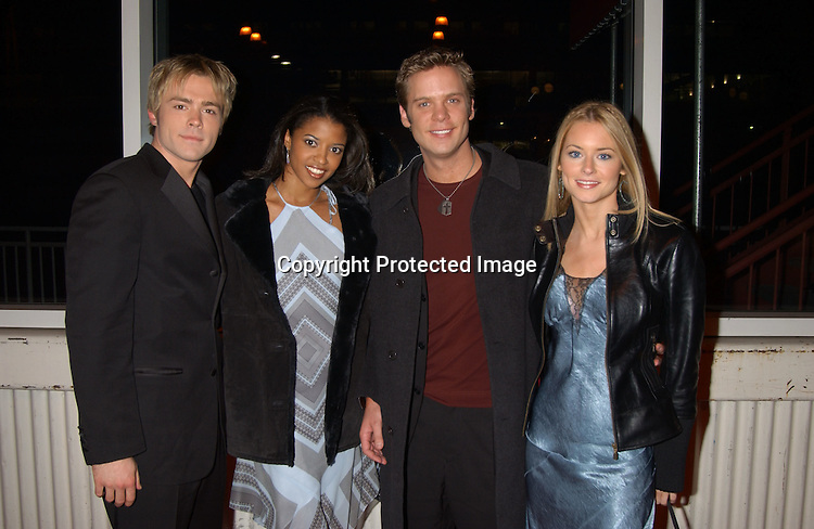 ..John Paul Lavoisier , Renee Goldsberry , Bruce MIchael Hall and Jessica Morris..at the ABC Casino Night on October 23, 2003 at the ..Lighthouse at Chelsea Piers. Photo by Robin Platzer, ..Twin Images
