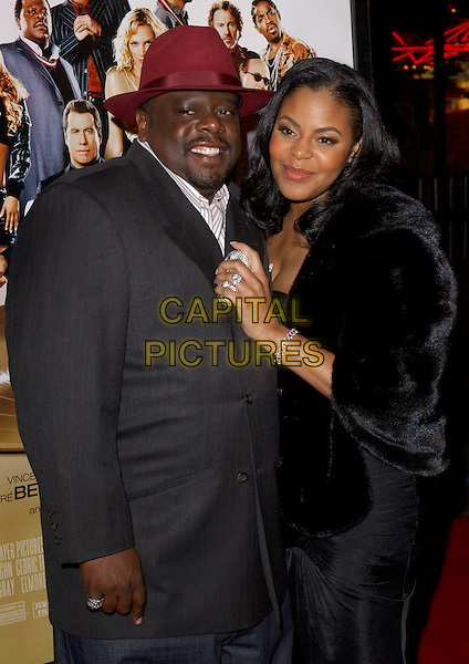 "CEDRIC THE ENTERTAINER & WIFE.Attends MGM's World Premiere of ""Be Cool"" held at The Grauman's Chinese Theatre in Hollywood, California, USA,.February 14th 2005. .half length.Ref: DVS.www.capitalpictures.com.sales@capitalpictures.com.©Capital Pictures."