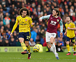 Matteo Guendouzi of Arsenal tacked by Jeff Hendrick of Burnley during the Premier League match at Turf Moor, Burnley. Picture date: 2nd February 2020. Picture credit should read: Andrew Yates/Sportimage