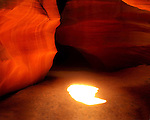 Sunburst in Antelope Canyon (slot canyon), Page, Arizona, USA. .  John offers private photo tours in Arizona and and Colorado. Year-round.