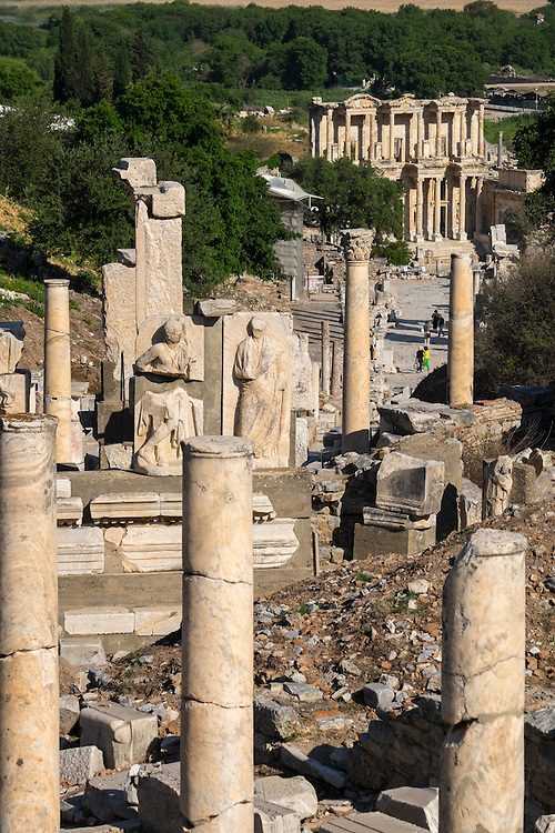 Incredibly well preserved, the street of Ephesus beckons visitors to explore the many columns and statues along the way.
