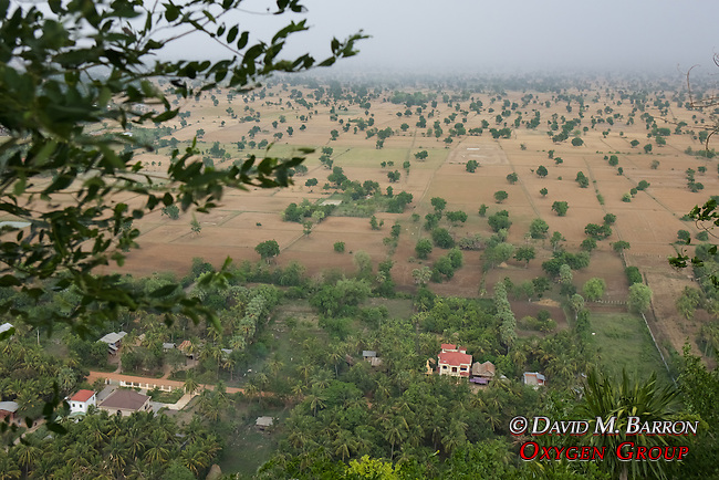 View From Phnom Sampeau Pagoda
