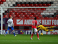 Curtis Main scores Portsmouth opening goal during Charlton Athletic vs Portsmouth, Checkatrade Trophy Football at The Valley on 7th November 2017