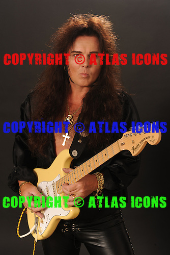 MIAMI DECEMBER 1: Yngwie Malmsteen poses in the studio on December 1, 2009 in Miami Florida. Photo by Larry Marano © 2009