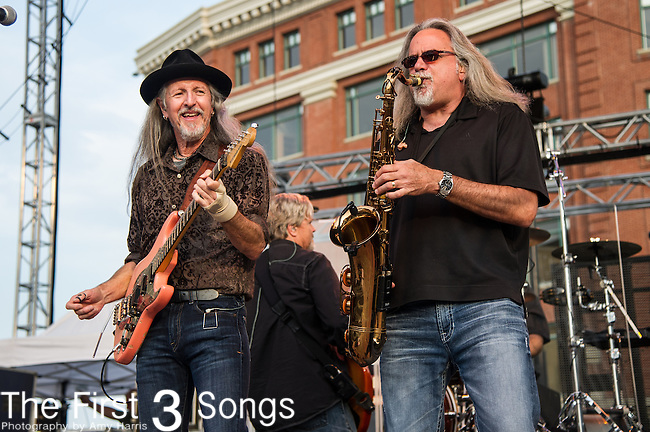 Patrick Simmons and Marc Russo of the The Doobie Brothers performs at the Horseshoe Casino in Cincinnati, Ohio.