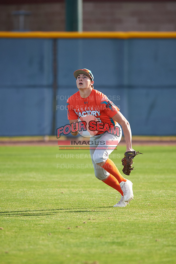 Petie Minor (3) of Golden Valley High School in EL Nido, California during the Baseball Factory All-America Pre-Season Tournament, powered by Under Armour, on January 14, 2018 at Sloan Park Complex in Mesa, Arizona.  (Zachary Lucy/Four Seam Images)