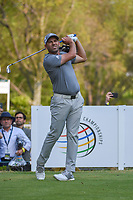 Sergio Garcia (ESP) watches his tee shot on 18 during round 4 of the World Golf Championships, Mexico, Club De Golf Chapultepec, Mexico City, Mexico. 2/24/2019.<br /> Picture: Golffile | Ken Murray<br /> <br /> <br /> All photo usage must carry mandatory copyright credit (© Golffile | Ken Murray)