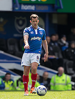 Michael Doyle of Portsmouth on the ball during the Sky Bet League 2 match between Portsmouth and Wycombe Wanderers at Fratton Park, Portsmouth, England on 23 April 2016. Photo by Andy Rowland.