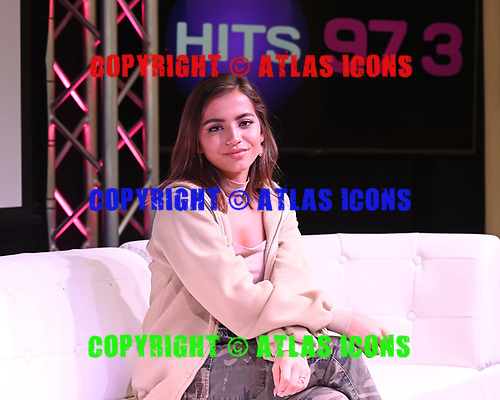 HOLLYWOOD, FL -  OCTOBER 23: Isabela Merced also known as Isabela Moner visits radio station Hits 97.3 Live on October 23, 2019 in Hollywood, Florida. Photo by Larry Marano © 2019