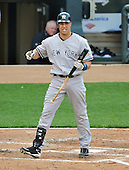Baltimore, MD - April 6, 2009 -- New York Yankees first basemen Mark Teixeira (25) watches the flight of a foul ball in the fifth inning against the Baltimore Orioles at Oriole Park at Camden Yards in Baltimore, MD on Monday, April 6, 2009..Credit: Ron Sachs / CNP.(RESTRICTION: NO New York or New Jersey Newspapers or newspapers within a 75 mile radius of New York City)