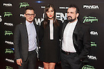 Actor Elijah Wood, actress Sasha Grey and director Nacho Vigalondo attends `Open Windows´new film premiere at Palafox Cinemas in Madrid, Spain. June 30, 2014. (ALTERPHOTOS/Victor Blanco)