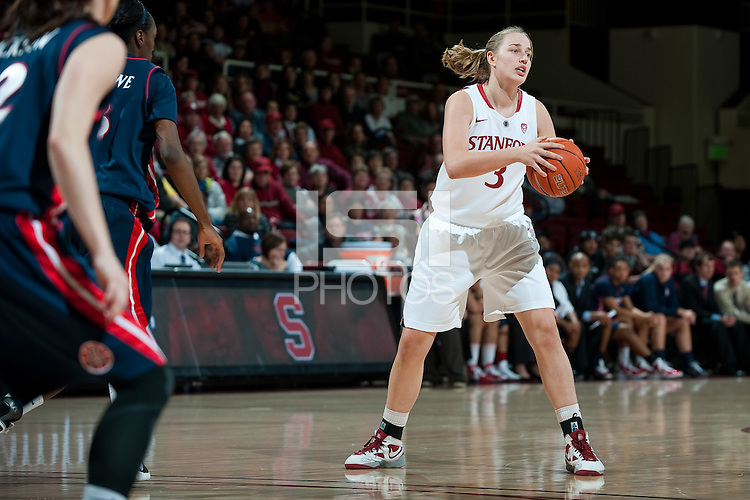 STANFORD, CA - JANUARY 6: Mikaela Ruef at Maples Pavilion, January 6, 2011 in Stanford, California.